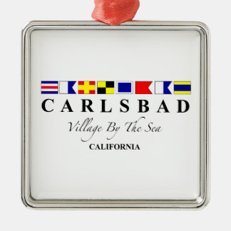 Carlsbad CA - Village By The Sea Metal Ornament