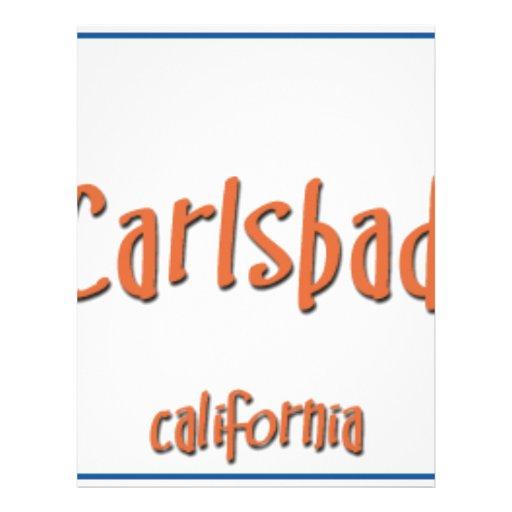 Carlsbad California BlueBox Customized Letterhead