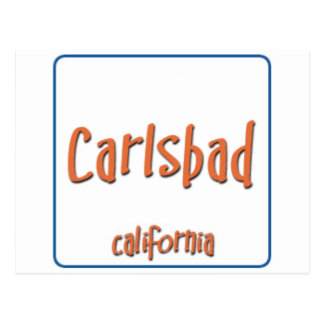 Carlsbad California BlueBox Postcard