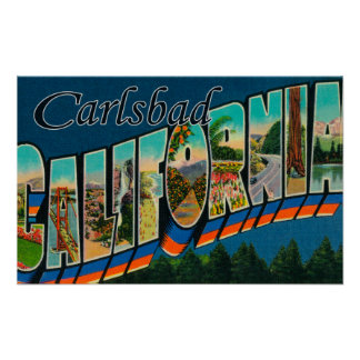 Carlsbad, California - Large Letter Scenes Posters