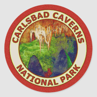 Carlsbad Caverns National Park Classic Round Sticker