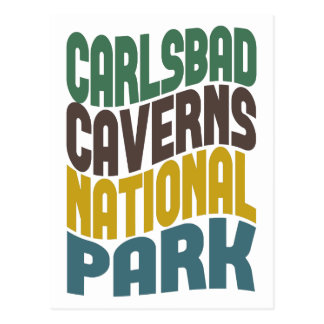 Carlsbad Caverns National Park Retro Wave Postcard