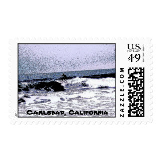 Carlsbad Floater Wave Ride Stamps