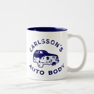 carlsson-auto-body_blue Two-Tone coffee mug