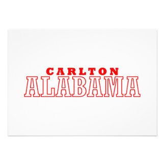 Carlton, Alabama City Design Custom Invites