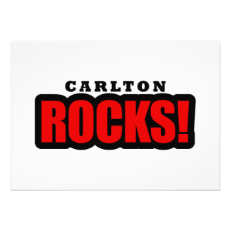 Carlton, Alabama City Design Personalized Invitations