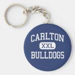 Carlton - Bulldogs - High - Carlton Minnesota Keychain
