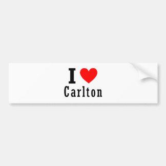 Carlton diseño de la ciudad de Alabama Etiqueta De Parachoque