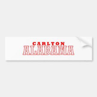 Carlton diseño de la ciudad de Alabama Pegatina De Parachoque
