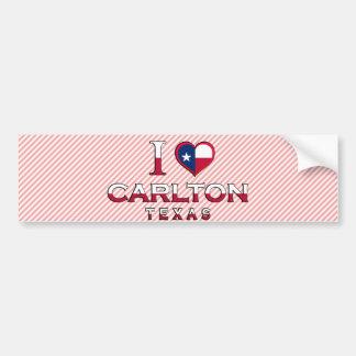 Carlton Tejas Etiqueta De Parachoque