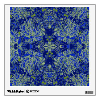 Carly Blue Paisley Wall Decal