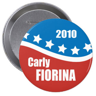 Carly Fiorina 2010 4 Inch Round Button