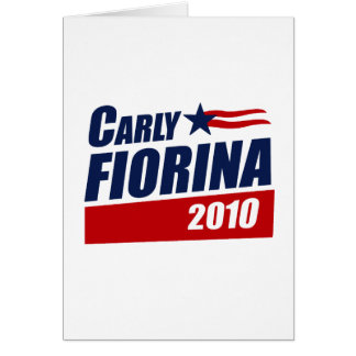 CARLY FIORINA 2010 GREETING CARDS