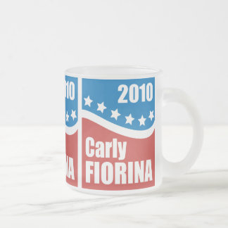 Carly Fiorina 2010 Frosted Glass Coffee Mug