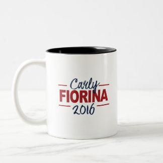 Carly Fiorina 2016 Campaign Sign Cursive Two-Tone Coffee Mug