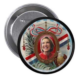 Carly Fiorina 2016 Pin Redondo De 3 Pulgadas