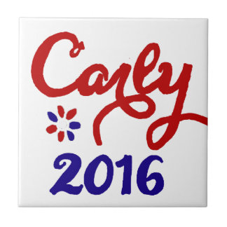 Carly Fiorina 2016 Political Support Small Square Tile
