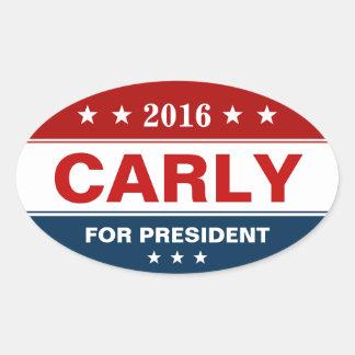 Carly Fiorina 2016 Presidential Campaign Stars Oval Sticker