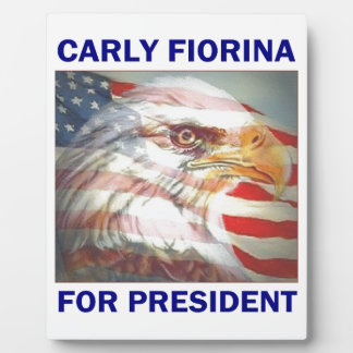 Carly Fiorina for President 2016 Plaque