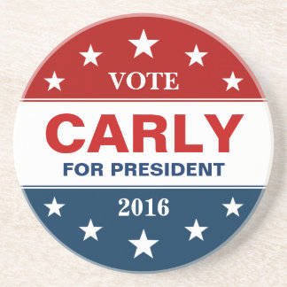 Carly Fiorina for President 2016 Support Campaign Coaster