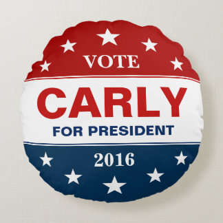Carly Fiorina for President 2016 Vote Campaign Round Pillow