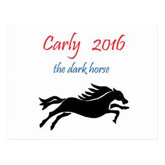 Carly Fiorina for President Dark Horse Political Postcard