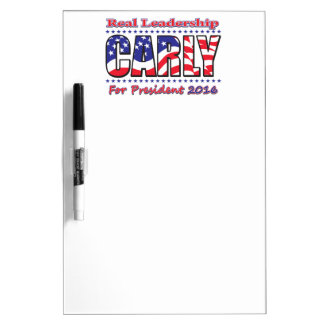 Carly Fiorina for President Dry Erase Board