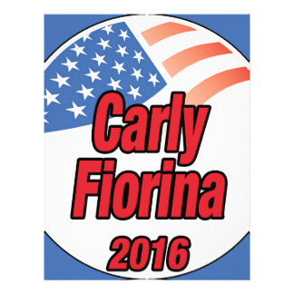 Carly Fiorina for president in 2016 Letterhead