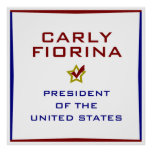 Carly Fiorina for President USA Poster