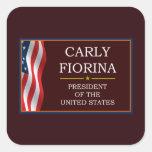 Carly Fiorina for President V3 Square Sticker