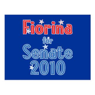 Carly Fiorina for Senate 2010 Star Design Postcard