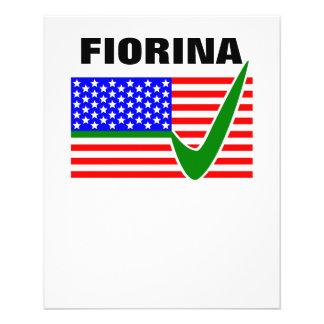 "Carly Fiorina para el presidente 2016 Folleto 4.5"" X 5.6"""