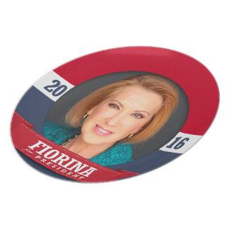 Carly Fiorina para el presidente 2016 Platos Para Fiestas