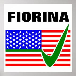 Carly Fiorina para el presidente 2016 Póster