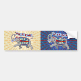Carly Fiorina President 2016 Republican Elephant Car Bumper Sticker