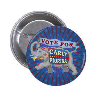 Carly Fiorina President 2016 Republican Elephant Pinback Button