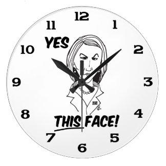Carly Fiorina sí esta cara Reloj Redondo Grande