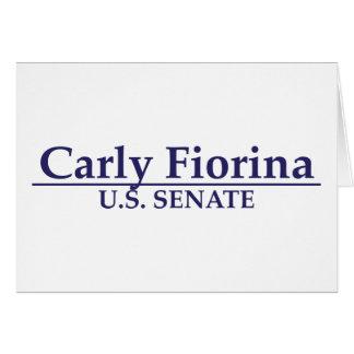 Carly Fiorina U.S. Senate Card