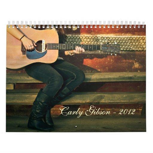 Carly Gibson - calendario 2012
