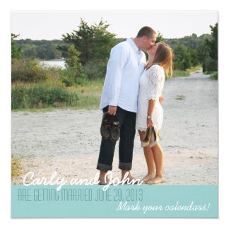 Carly Save The Date 5.25x5.25 Square Paper Invitation Card