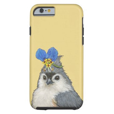 Carly the tufted titmouse iPhone 6/6s tough case
