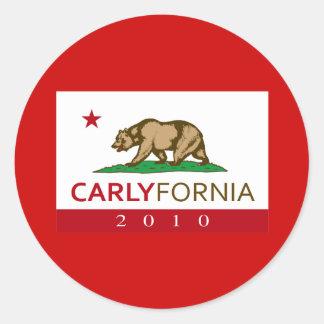 CARLYFORNIA ROUND STICKERS