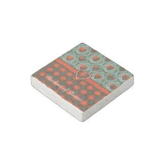 Carlyle clan Plaid Scottish kilt tartan Stone Magnet