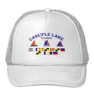 Carlyle Lake IL Signal Flags Trucker Hat