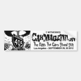 Carmageddon 2012 - Pegatina para el parachoques Etiqueta De Parachoque