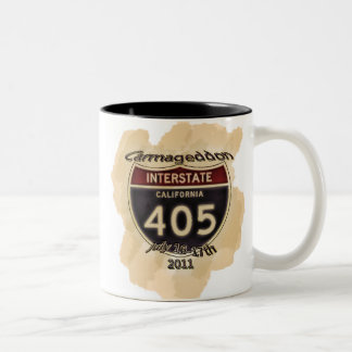 Carmageddon 405 Closure Two-Tone Coffee Mug
