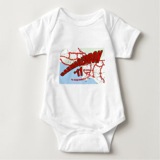 CARMAGEDDON 405 Gridlock in Los Angeles Get it now Baby Bodysuit