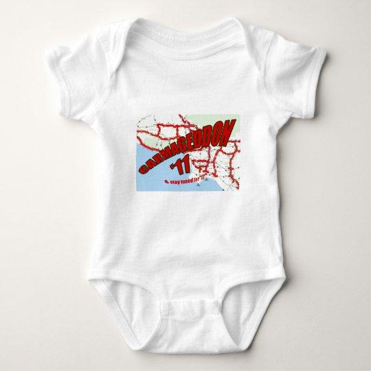 CARMAGEDDON 405 Gridlock in Los Angeles Get it now Baby Bodysuit