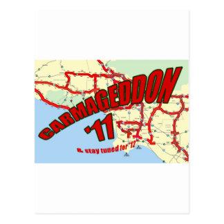 CARMAGEDDON 405 Gridlock in Los Angeles Get it now Post Card