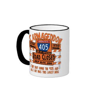 Carmageddon - 405 - Road Closed Ringer Coffee Mug
